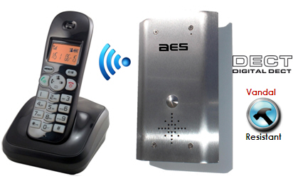Set Interfon Wireless Fara Fir cu Unda Radio AES 602-A DECT