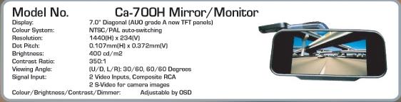monitor LCD 15cm Tip  Oglinda - AUTOWATCH