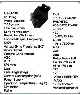camera video  color CA-9730 AUTOWATCH