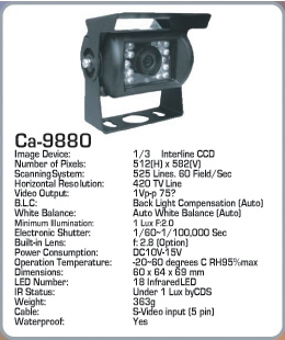 camera video color CA-9880 AUTOWATCH