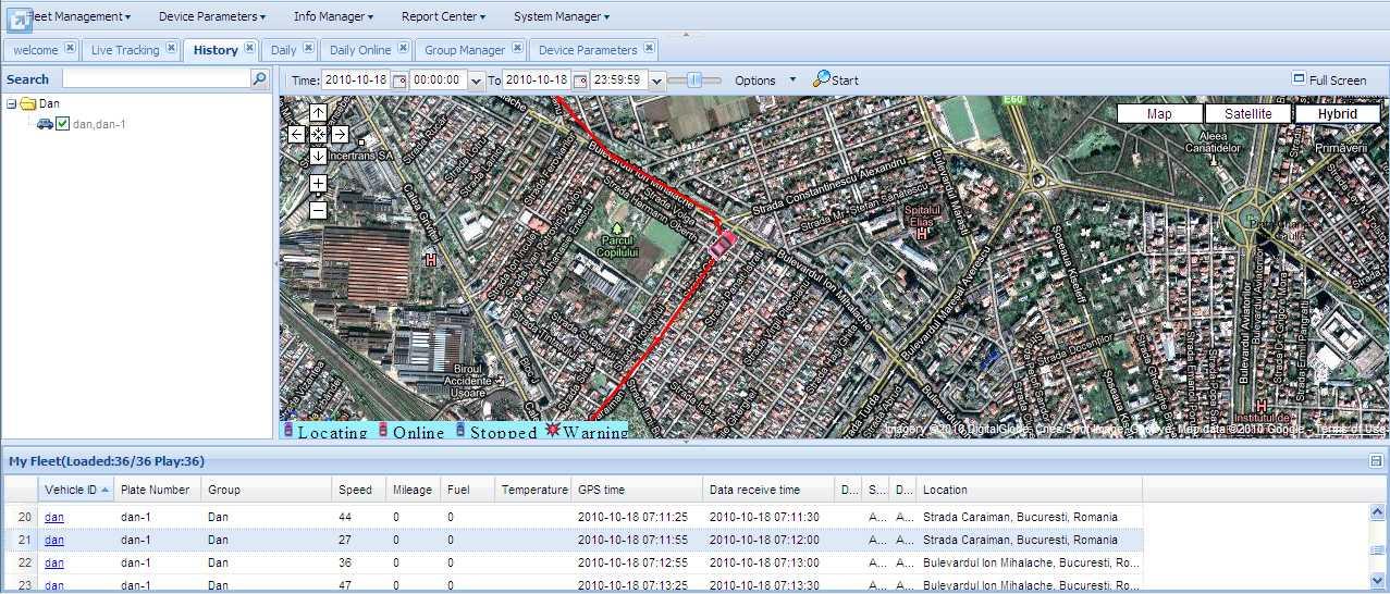SPOT TRACK LITE sistem GSM/GPS pentru  Monitorizare Flota