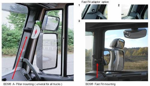 instalare oglinda retrovizoare BDS pentru unghi mort