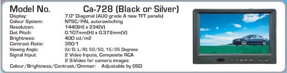 monitor LCD 18cm cu functie TV - AUTOWATCH