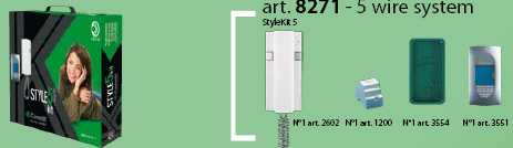 set interfon COMELIT STYLEKIT5 pentru 1 familie