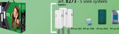 set interfon COMELIT STYLEKIT5 pentru 3 familii